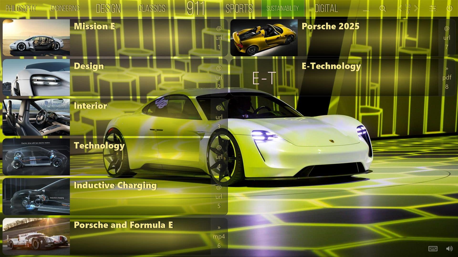 Mediaboard Content Package - About Porsche Sustainability