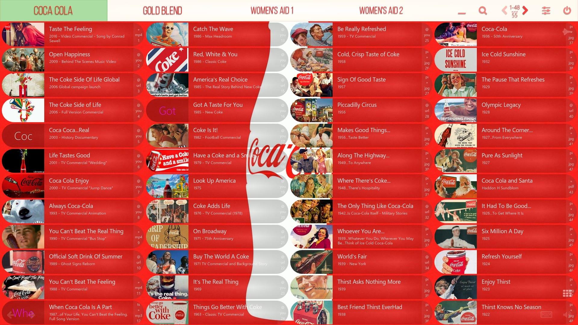 Mediaboard Content Package - Campaigns Coca Cola