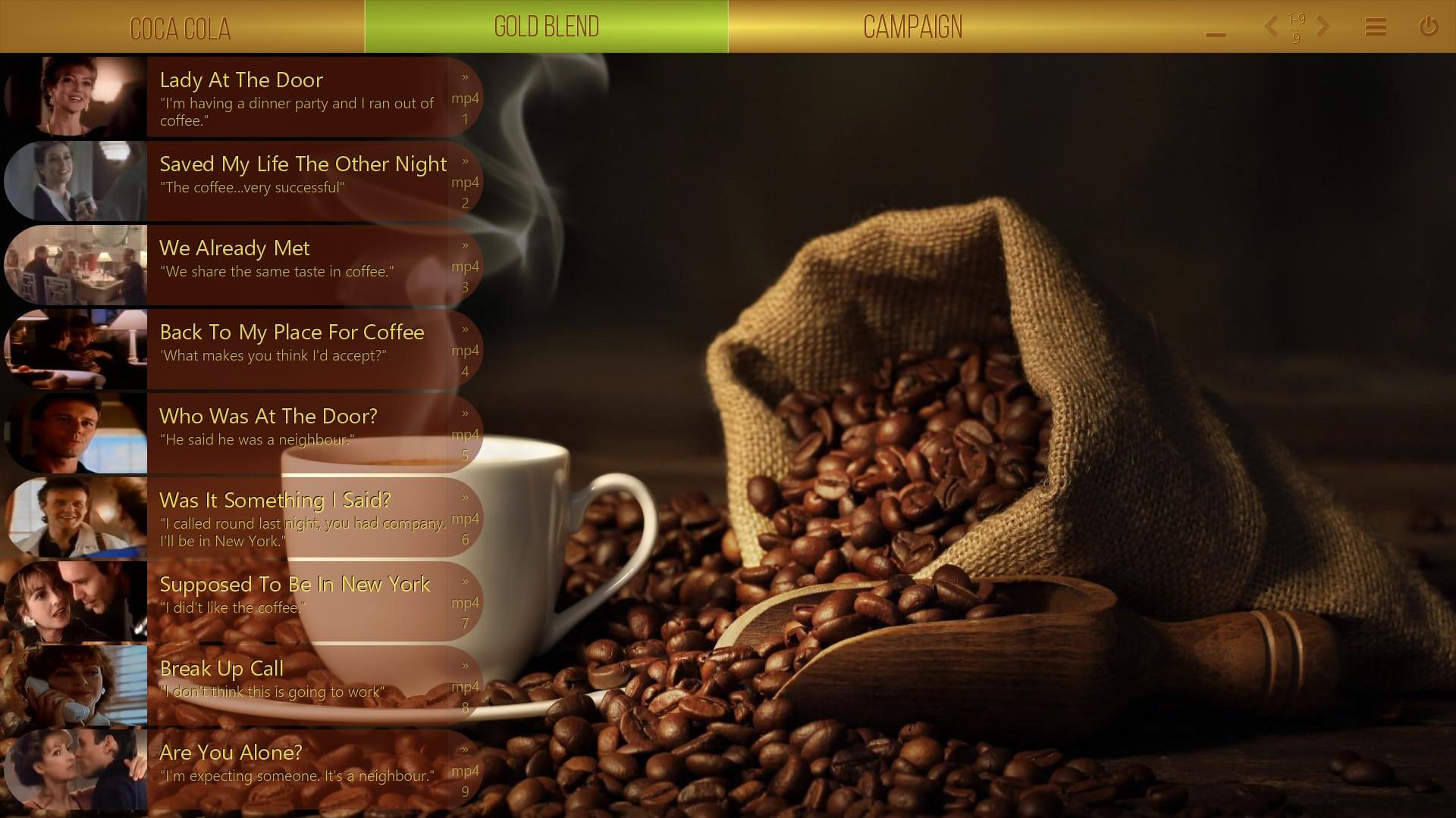 Mediaboard Content Package - Campaigns - Nescafé Gold Blend