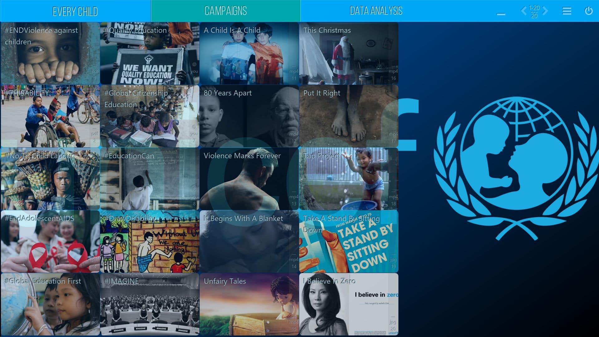 UNICEF - Mediaboard - Home EN