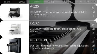 Mediaboard Content Package - Steinway & Sons Uprights
