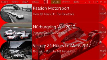 Mediaboard Content Package - About Porsche Sports